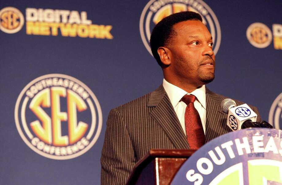 Texas A&M coach Kevin Sumlin will lead the Aggies into their first season of competing in the Southeastern Conference. Photo: Butch Dill, Associated Press / FR111446 AP