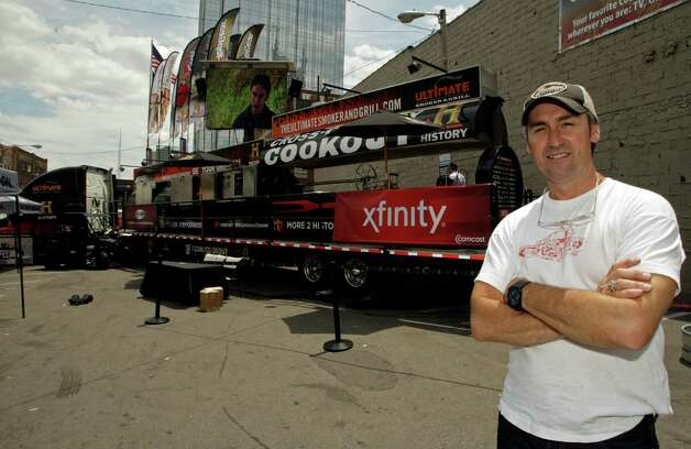 In this image provided by HISTORY, Mike Wolfe of American Pickers poses at the HISTORY Cross Country Cook-Out Tour at the CMA Music Festival on Thursday June 7, 2012 in in Nashville, Tenn. (Photo by Wade Payne /Invision for HISTORY/AP Images) Photo: Wade Payne / Invision