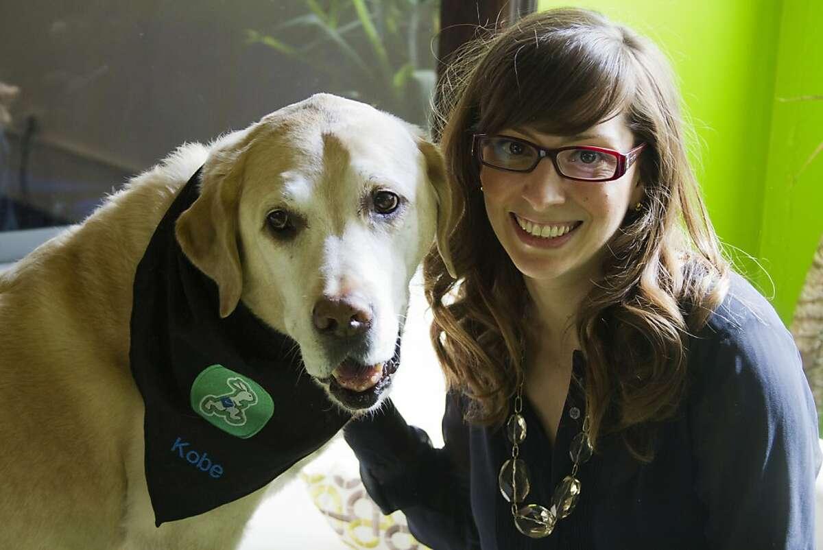 Leah Busque credits her dog, Kobe, with inspiring her to create TaskRabbit. Kobe died July 6 from leukemia.