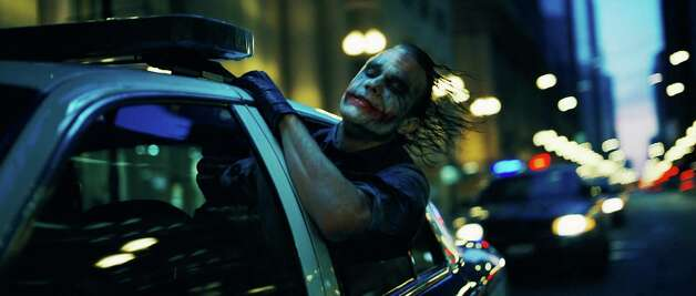 HEATH LEDGER stars as The Joker in Warner Bros. Pictures' and Legendary Pictures' action drama ''The Dark Knight,'' distributed by Warner Bros. Pictures and also starring Christian Bale, Michael Caine, Gary Oldman, Aaron Eckhart, Maggie Gyllenhaal and Morgan Freeman.