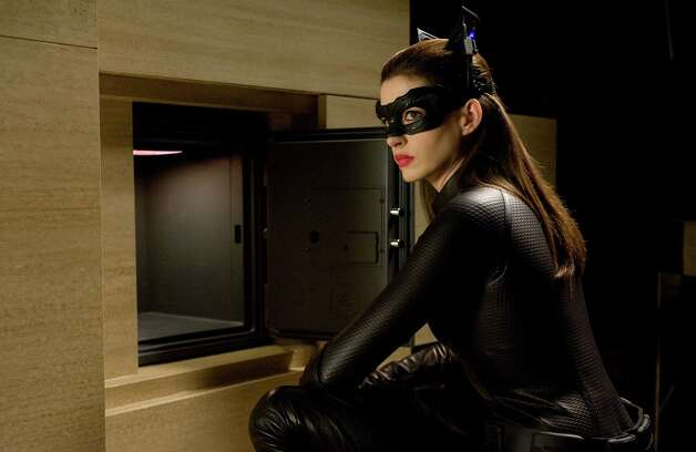 Ron Phillips/Warner Bros. Pictures ANNE HATHAWAY as Selina Kyle in Warner Bros. Pictures? and Legendary Pictures? action thriller ?THE DARK KNIGHT RISES,? a Warner Bros. Pictures release. Photo: Ron Phillips / © 2012 WARNER BROS. ENTERTAINMENT INC. AND LEGENDARY PICTURES FUNDING, LLC