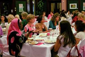 "At the 2011 Pink Iftar, women of different faiths shared conversation over ""iftar,"" the meal that breaks the fast during the month-long Ramadan."