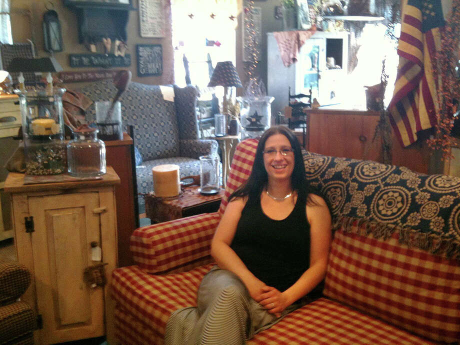 Holly Zaborowski is the owner of The Primitive Home, at 312 Danbury Road in New Milford. Photo: Staff Photo