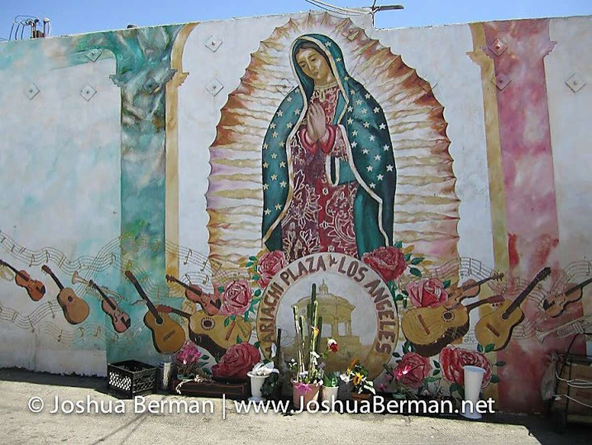 A mural and shrine in Mariachi Plaza de Los Angeles (in East Los Angeles) are dedicated to musicians.