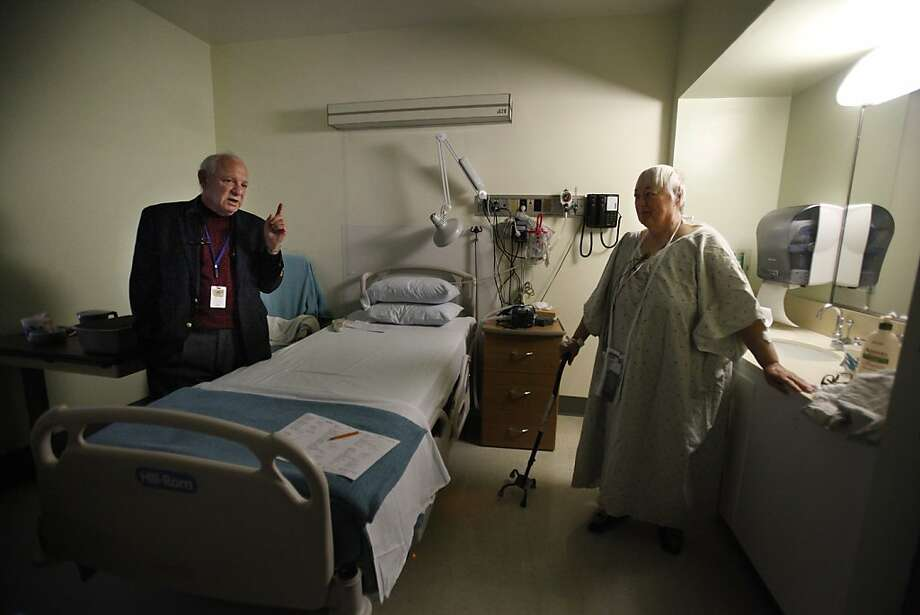 Mary Stuever, who moved to San Francisco two years ago, says she heard of St. Luke's excellent reputation even when she lived in Stockton. Dr. Edward Kersh (left) is chief of staff. Photo: Lea Suzuki, The Chronicle
