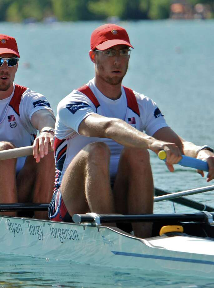 U.S. Rower Chalie Cole, a New Canaan native. July 2012. Photo: US Rowing/Contributed Photo