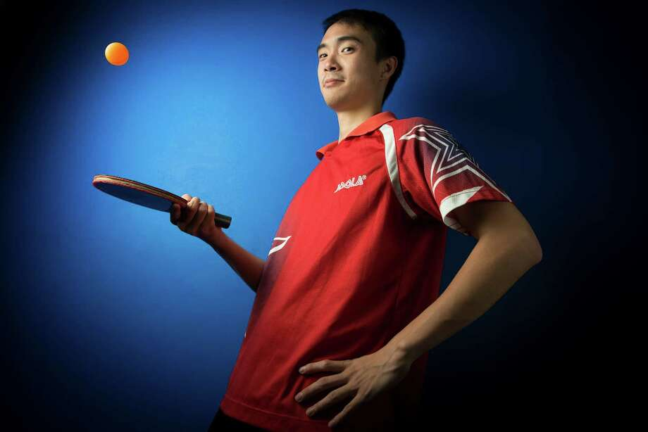 Timothy Wang poses for a portrait on Wednesday, June 20, 2012, in Milpitas, Calif. Wang, a Houstonian who went to Alief Kerr, who the only male on the U.S. Table Tennis Team for the 2012 London Olympics. ( Smiley N. Pool / Houston Chronicle) Photo: Smiley N. Pool / © 2012  Houston Chronicle