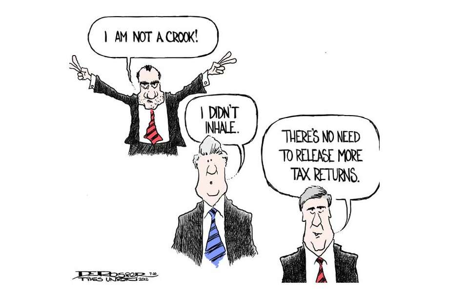 Romney refuses to release more tax returns Photo: John De Rosier