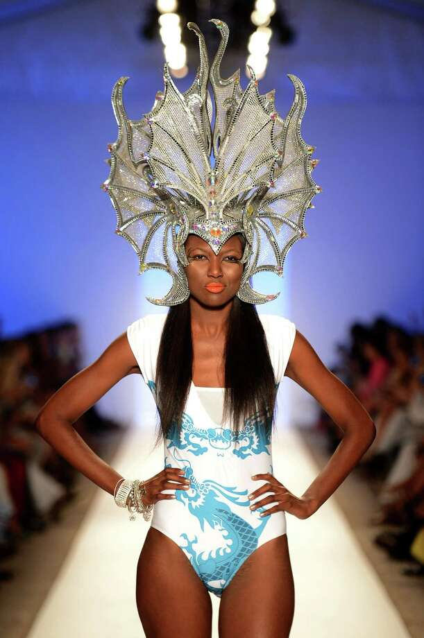 A model walks the runway. Photo: Frazer Harrison, Getty Images For Mercedes-Benz Fashion Week Swim 2013 / 2012 Getty Images