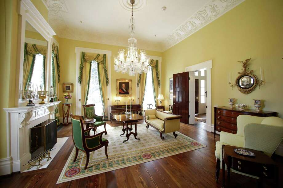 The small parlor is seen in the restored Texas Governor's Mansion Wednesday, July 18, 2012, in Austin, Texas. After four years and a $25 million restoration project, the historic Texas Governor's Mansion that was nearly destroyed by fire is complete. (AP Photo/Eric Gay) Photo: Eric Gay / AP