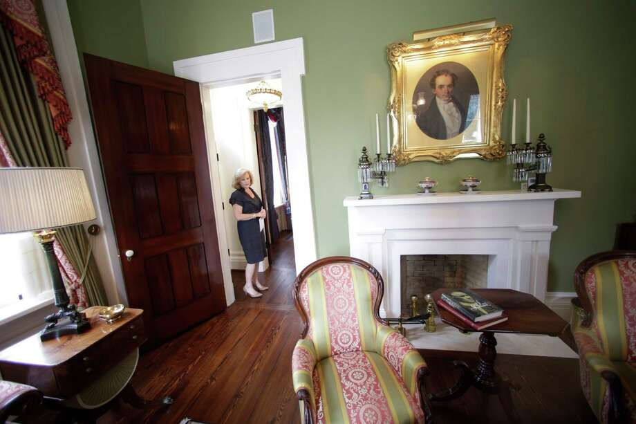 Texas First Lady Anita Perry gives a tour of the Texas Governor's Mansion Wednesday, July 18, 2012, in Austin, Texas. After four years and a $25 million restoration project, the historic Texas Governor's Mansion that was nearly destroyed by fire is complete. (AP Photo/Eric Gay) Photo: Eric Gay / AP