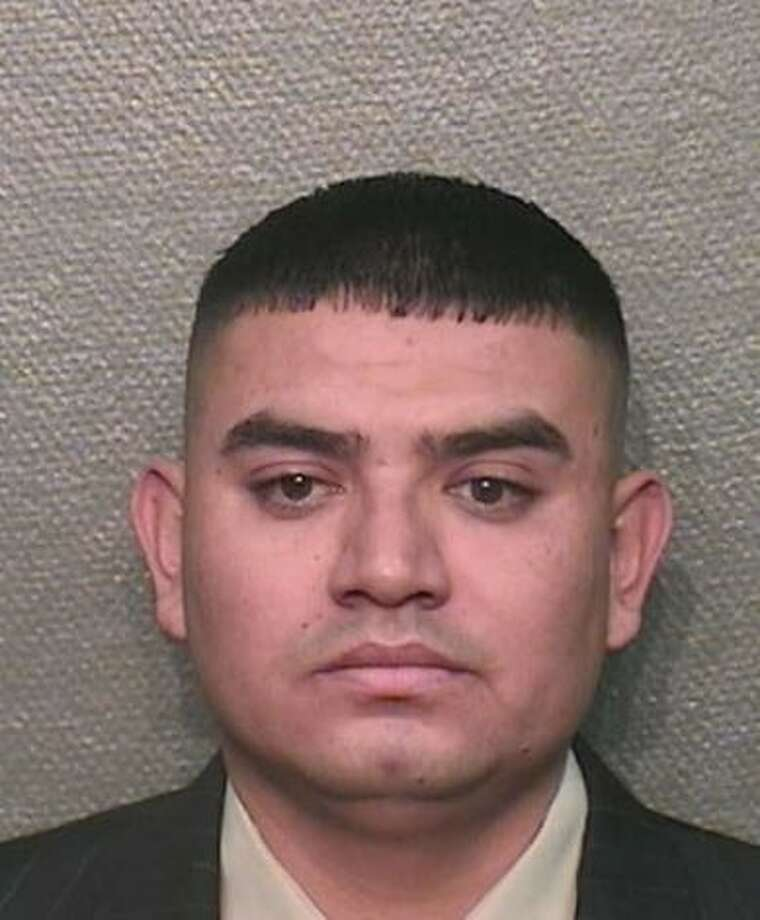 HPD Officer Adan Jimenez Carranza, 32, is charged with aggravated assault of an adult. He allegedly raped a woman while on duty on June 18, 2012. Photo: HPD