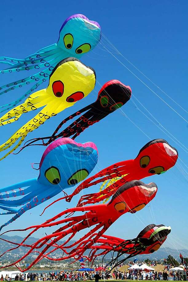 "The Berkeley Kite Wranglers' ""Octopile"" will be among the attractions at this weekend's Berkeley Kite Festival. Photo: Highline Kites Of Berkeley"