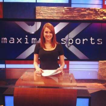 Jessica Ghawi, in a photo from her Twitter account, moved to Colorado to pursue a sports broadcasting career. Photo: Coutesy KABB
