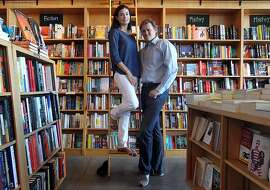 Goodreads CEO & founder Otis Chandler and Elizabeth Chandler Editor & Chief run a social reading site that offers book reviews and a place to discover new books to read, based in part by what your friends might be reading. Photo taken at  Book Passage, in San Francisco Calif., Tuesday, July 10, 2012.
