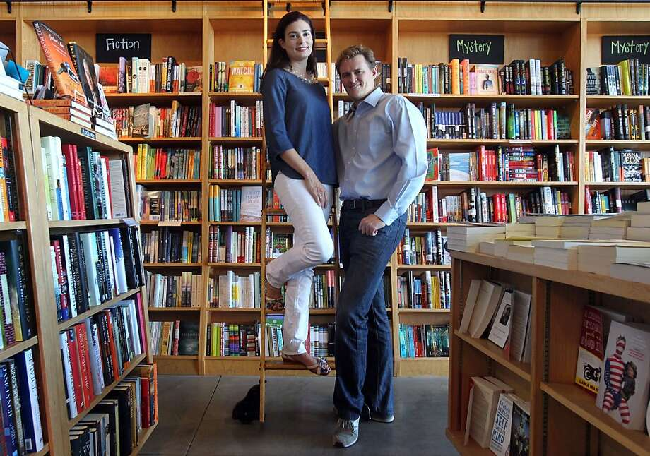 Goodreads CEO & founder Otis Chandler and Elizabeth Chandler Editor & Chief run a social reading site that offers book reviews and a place to discover new books to read, based in part by what your friends might be reading. Photo taken at  Book Passage, in San Francisco Calif., Tuesday, July 10, 2012. Photo: Lance Iversen, The Chronicle