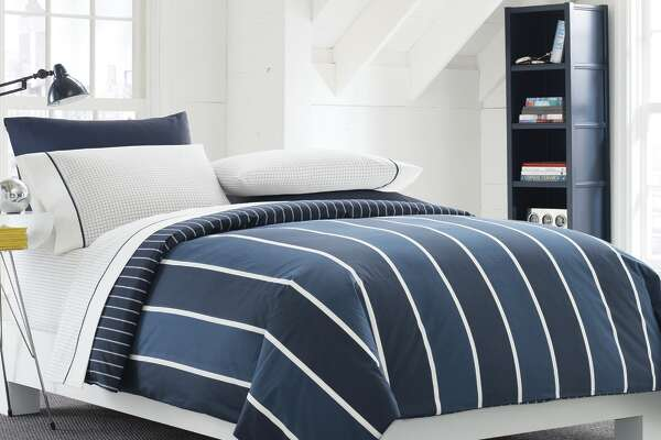 A classic design keeps the theme simple and makes coordinating easy. $149.99-$179.99, Bed Bath & Beyond.