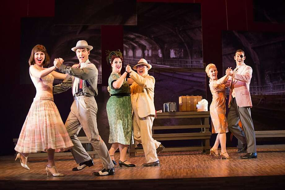 "Carolyn Sproule (l.), Joseph Lattanzi, Aviva Fortunata, Andrew Stenson, Suzanne Rigden and Matthew Scollin in Dominick Argento's ""Postcard from Morocco"" Photo: Kristen Loken"