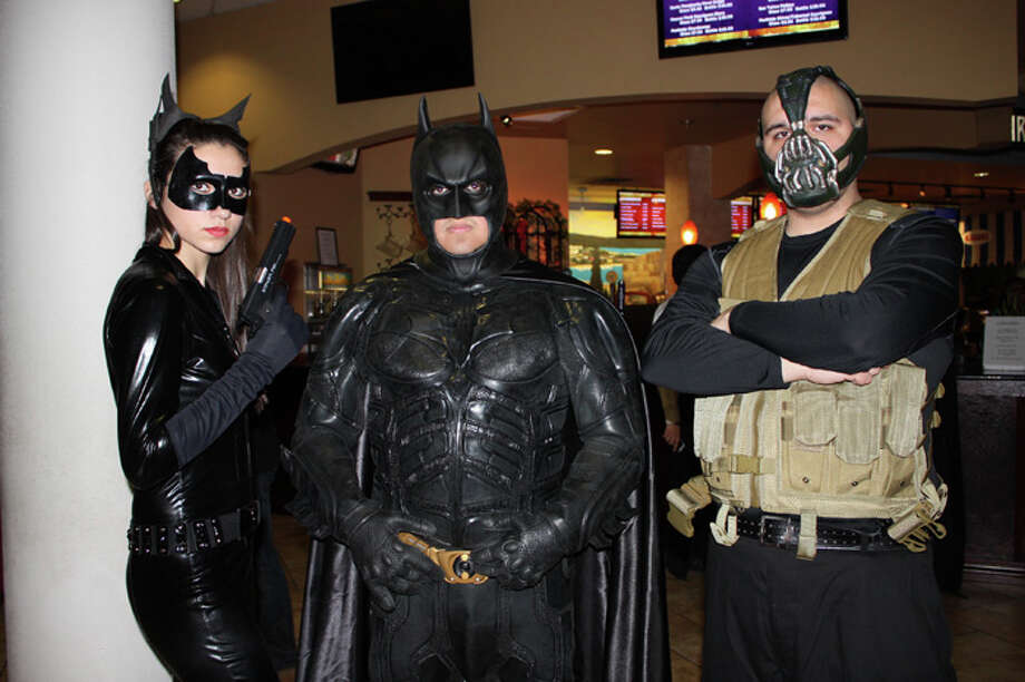 Fans gathered at the Palladium for the premier of 'Dark Knight Rises', Thursday night. Photo: Yvonne Zamora