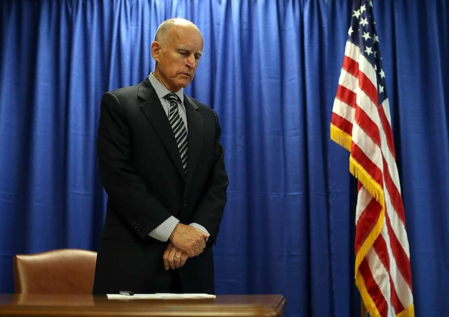SAN FRANCISCO, CA - JULY 11:  California Governor Jerry Brown prepares to sign copies of the California Homeowner Bill of Rights (AB 278 and SB 900) on July 11, 2012 in San Francisco, California.  Gov. Jerry Brown signed the California Homeowners Bill of Rights that establishes landmark protection rules for mortgage loan borrowers. The laws go into effect on January 1, 2013.  (Photo by Justin Sullivan/Getty Images) Photo: Justin Sullivan, Getty Images