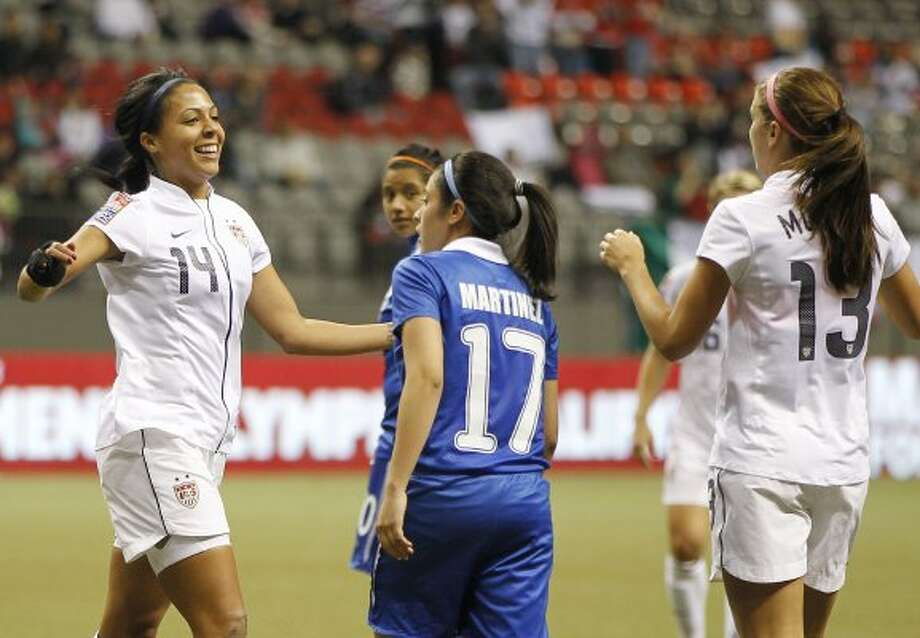 Sydney Leroux(pictured at far left) | Age: 22 | Sport: soccer