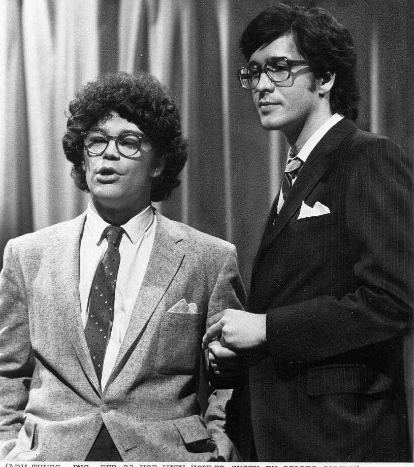 """Saturday Night Live"" writer/performers Al Franken, left, and Tom Davis in New York. Davis, a writer and performer who with Franken developed some of the most popular skits in the early years of ""Saturday Night Live,"" died Thursday, July 19, 2012. He was 59. (AP Photo/NBC-TV, File) Photo: Anonymous"