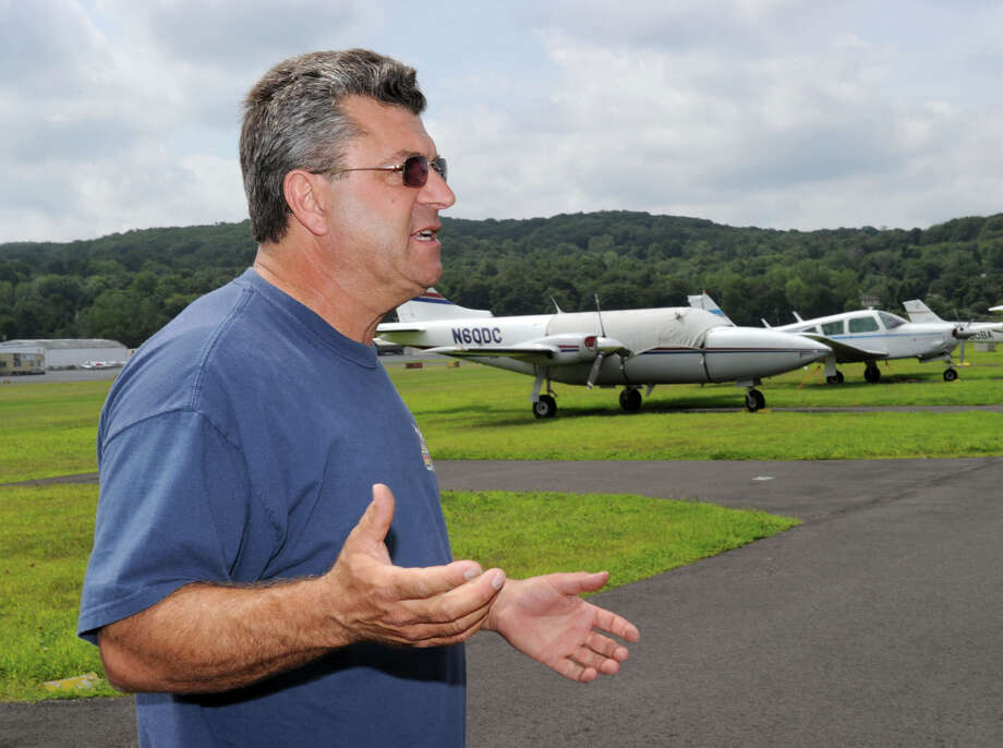 Santo Silvestro is the owner of the Business Aviation Center and Danbury Aviation. Silvestro wants to build 27 new private hangers at the airport that can be rented out to aviators from throughout the region. Photo: Carol Kaliff, ST / The News-Times