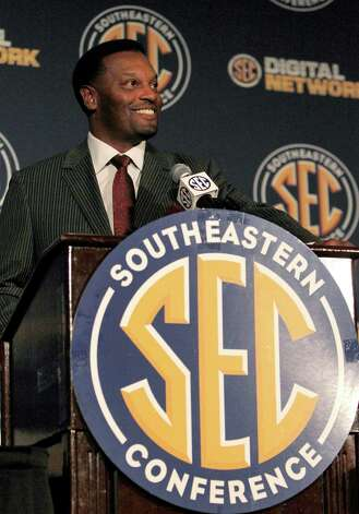 Kevin Sumlin's first year as Texas A&M's coach also is the Aggies' first year in the SEC. Photo: Butch Dill, Associated Press