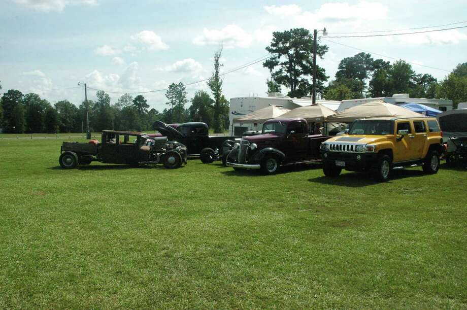 """The Evadale """"Gear Heads"""" are all set up for the weekend's festivities Photo: Jodie Warner"""