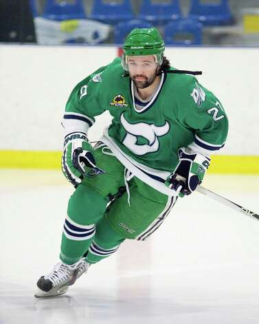 Jay Meloff is a former player for the Danbury Whalers Hockey team. Photo credit: Bill Thebert Photo: Contributed Photo