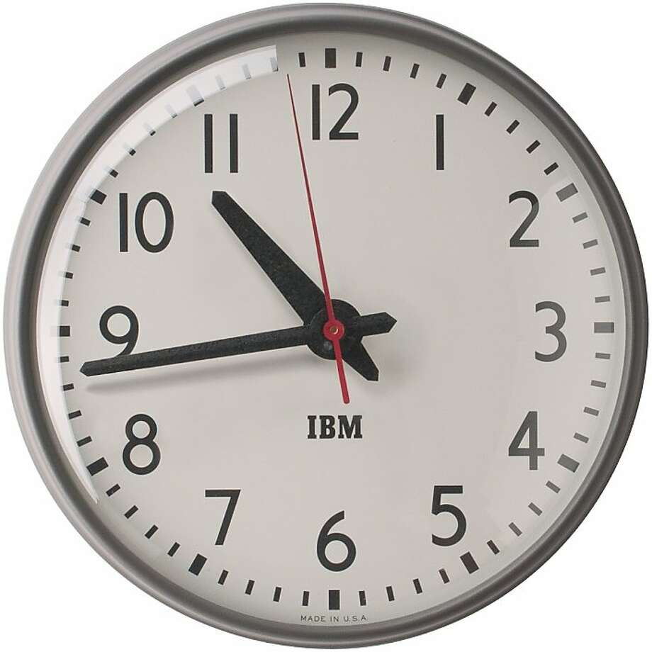 1960s IBM 13 -inch Standard Issue Clock, from Schoolhouse Electric & Supply Co. Photo: Schoolhouse Electric & Supply Co