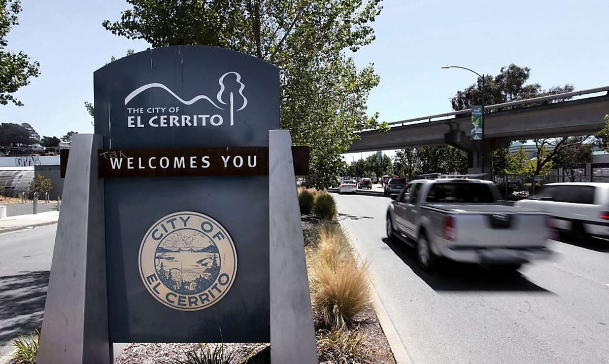 At the city limits along San Pablo Avenue, in El Cerrito, Calif. The police department asked residents with surveillance cameras along Arlington Boulevardto review their footage, possibly as part of a hate crime investigation.
