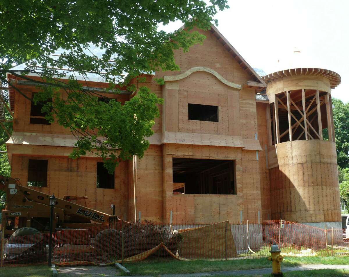 The size of a house under construction at the corner of South Benson and Judson roads has become the topic of debate.