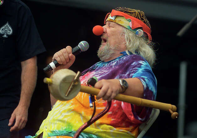 Wavy Gravy entertains the audience between acts at the Gathering of the Vibes concert at Seaside Park in Bridgeport, Conn. on Friday July 20, 2012. Photo: Christian Abraham / Connecticut Post freelance