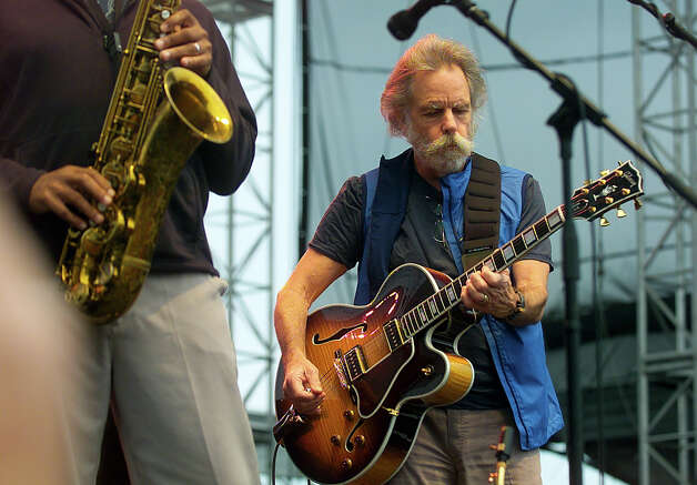 Bob Weir and Bruce Hornsby with Branford Marsalis perform at the Gathering of the Vibes concert at Seaside Park in Bridgeport, Conn. on Friday July 20, 2012. Photo: Christian Abraham / Connecticut Post freelance