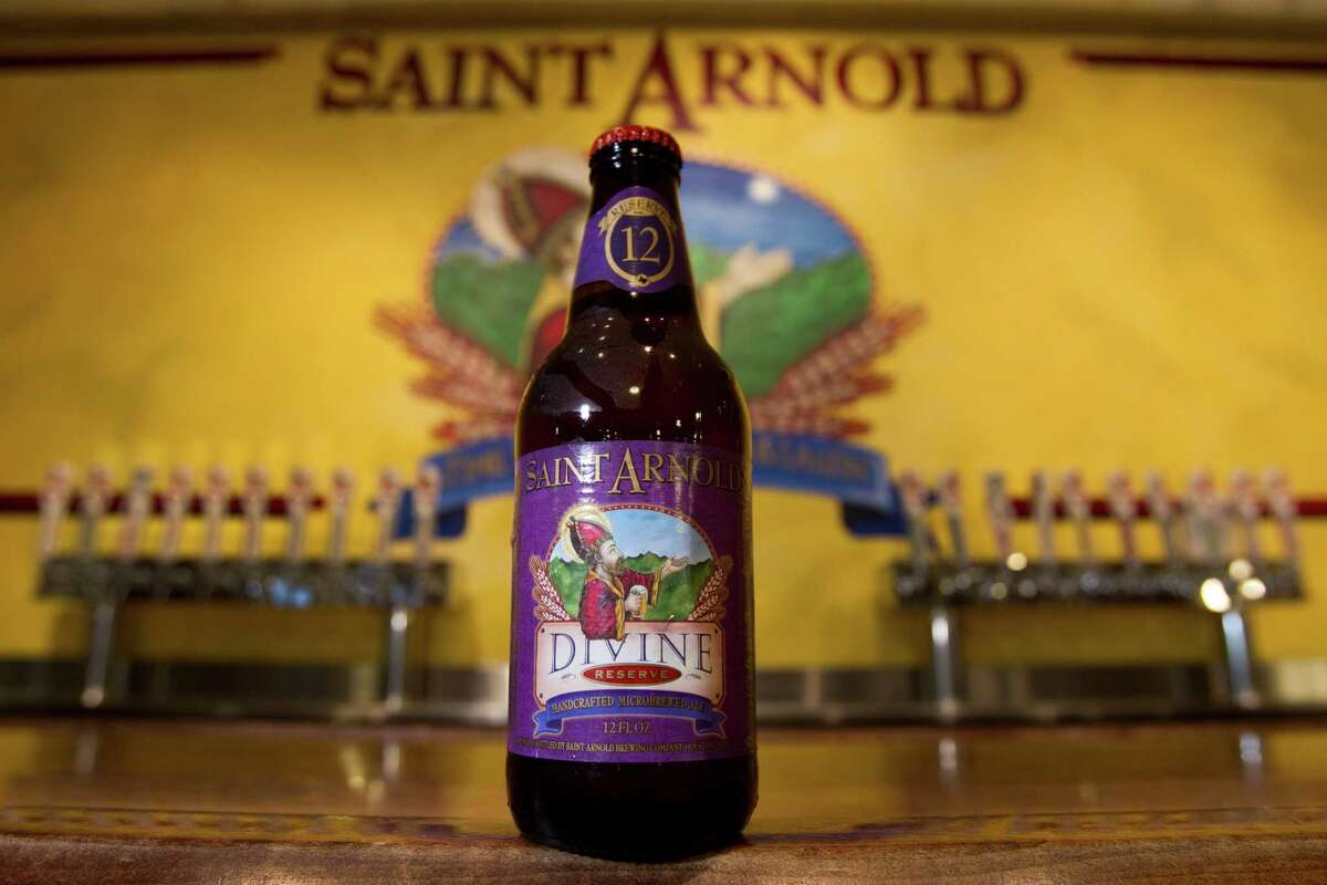 A bottle of Divine Reserve No. 12 is shown at St. Arnold Brewing Co. Friday, July 20, 2012, in Houston. ( Brett Coomer / Houston Chronicle )