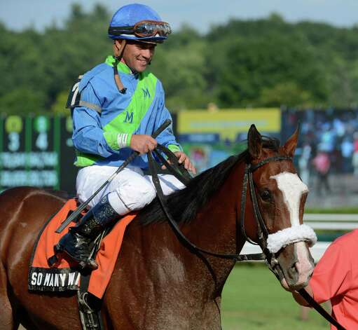 So Many Ways with jockey Javier Castellano wins the 94th running of The Schuylerville stakes at the Saratoga Race Course on opening day 144 July 20, 2012.  (Skip Dickstein / Times Union)  FOR IORRIZZO STORY Photo: SKIP DICKSTEIN