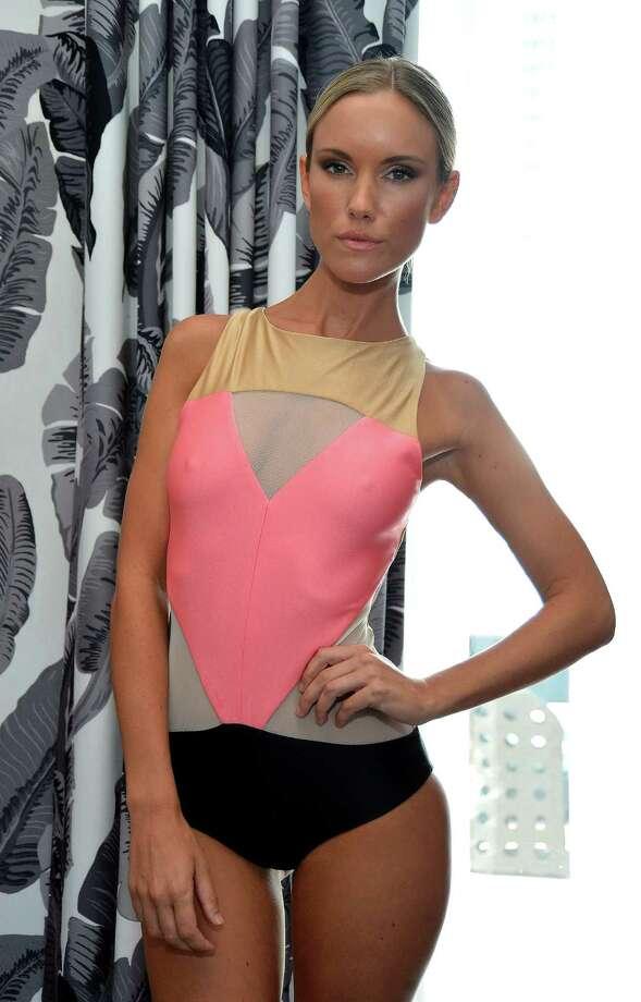 A model poses at the Éclairée Presentation. Photo: Frazer Harrison, Getty Images For Éclairée / 2012 Getty Images