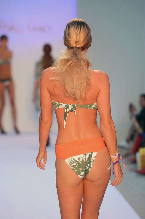 A model walks the runway at the Poko Pano show. Photo: Frazer Harrison, Getty Images For Mercedes-Benz Fashion Week Swim 2013 / 2012 Getty Images