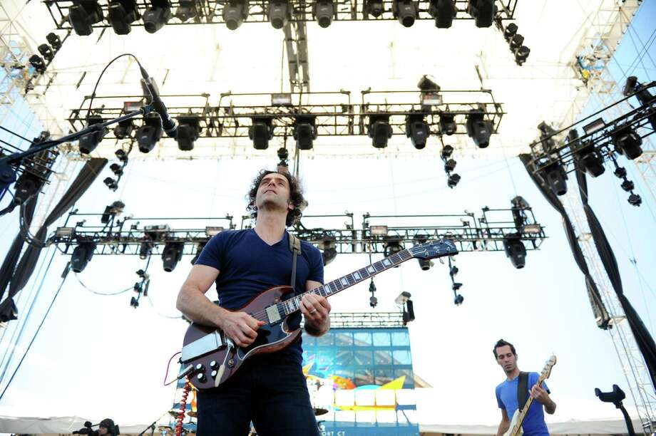 Guitarist Dweezil Zappa performs with Zappa Plays Zappa during the Gathering of the Vibes at Seaside Park in Bridgeport, Conn. Saturday, July 21, 2012. Photo: Autumn Driscoll / Connecticut Post freelance