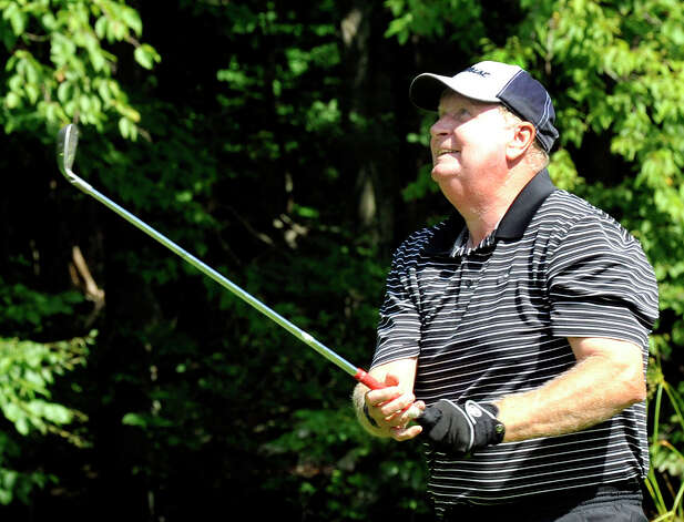 Jim Tierney plays in the 22nd Annual Danbury Amateur golf championship at Richter Park Golf Course Saturday, July 21, 2012. Photo: Michael Duffy / The News-Times