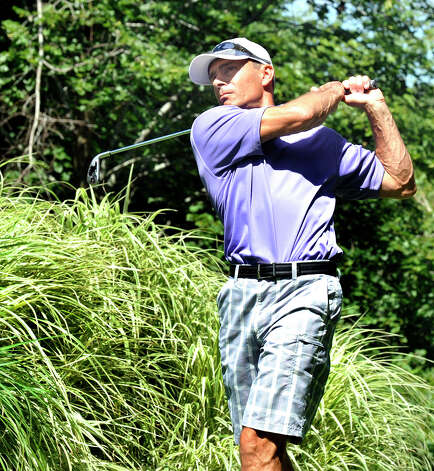 Gregg Radachowsky plays in the 22nd Annual Danbury Amateur golf championship at Richter Park Golf Course Saturday, July 21, 2012. Photo: Michael Duffy