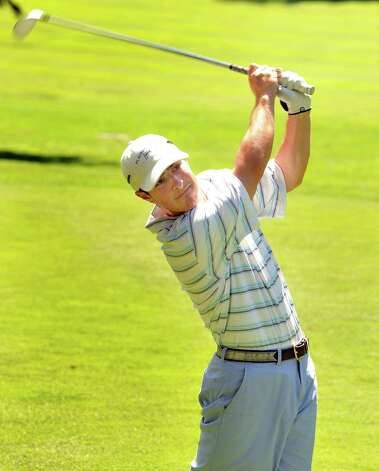 Nick Taylor plays in the 22nd Annual Danbury Amateur golf championship at Richter Park Golf Course Saturday, July 21, 2012. Photo: Michael Duffy / The News-Times