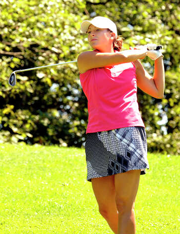 Jennifer Tierney plays in the 22nd Annual Danbury Amateur golf championship at Richter Park Golf Course Saturday, July 21, 2012. Photo: Michael Duffy / The News-Times