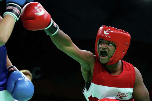 Seventeen-year-old Claressa Shields is set to become the youngest U.S. Olympic boxer in 40 years. She's favored to win gold in the middleweight division. Photo: Feng Li, Getty Images / 2012 Getty Images