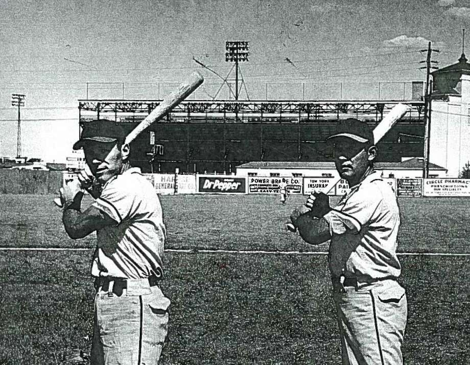 Bob and Richard Villanueva at Richter Field in 1949. Photo: Courtesy Richard Villanueva