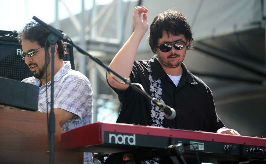 Keyboardist Todd Stoops, of the band Kung Fu, plays with Deep Banana Blackout at the Gathering of the Vibes at Seaside Park in Bridgeport, Conn. Saturday, July 21, 2012. Photo: Autumn Driscoll / Connecticut Post freelance