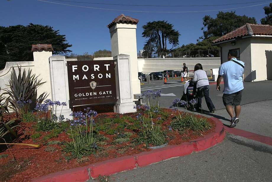 People entering Fort Mason in San Francisco, Calif.,  on Friday, July 20, 2012. Photo: Liz Hafalia, The Chronicle