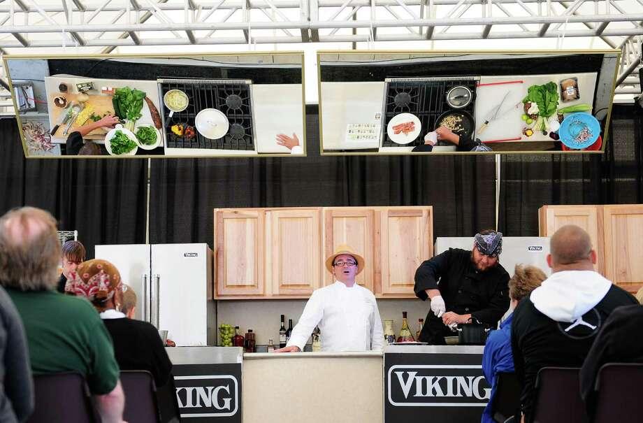 Celebrity Chef Thierry Rautureau hosts a cook-off. Photo: LINDSEY WASSON / SEATTLEPI.COM