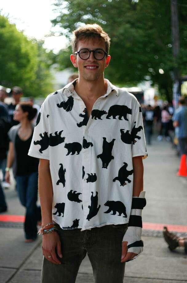 Mitch, no last name given, sports a bear print button-up shirt. Photo: Sofia Jaramillo / SEATTLEPI.COM